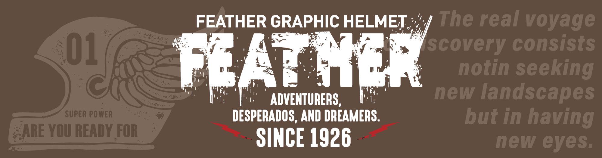 FEATHER GRAPHIC HELMET